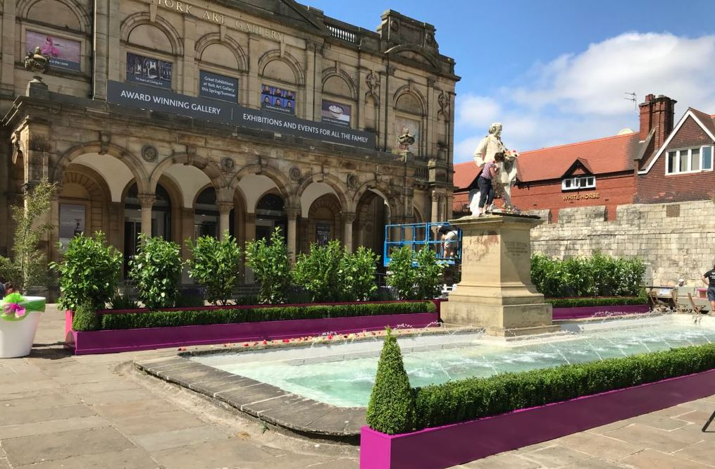 Johnsons help beautify Exhibition Square as part of Bloom Festival