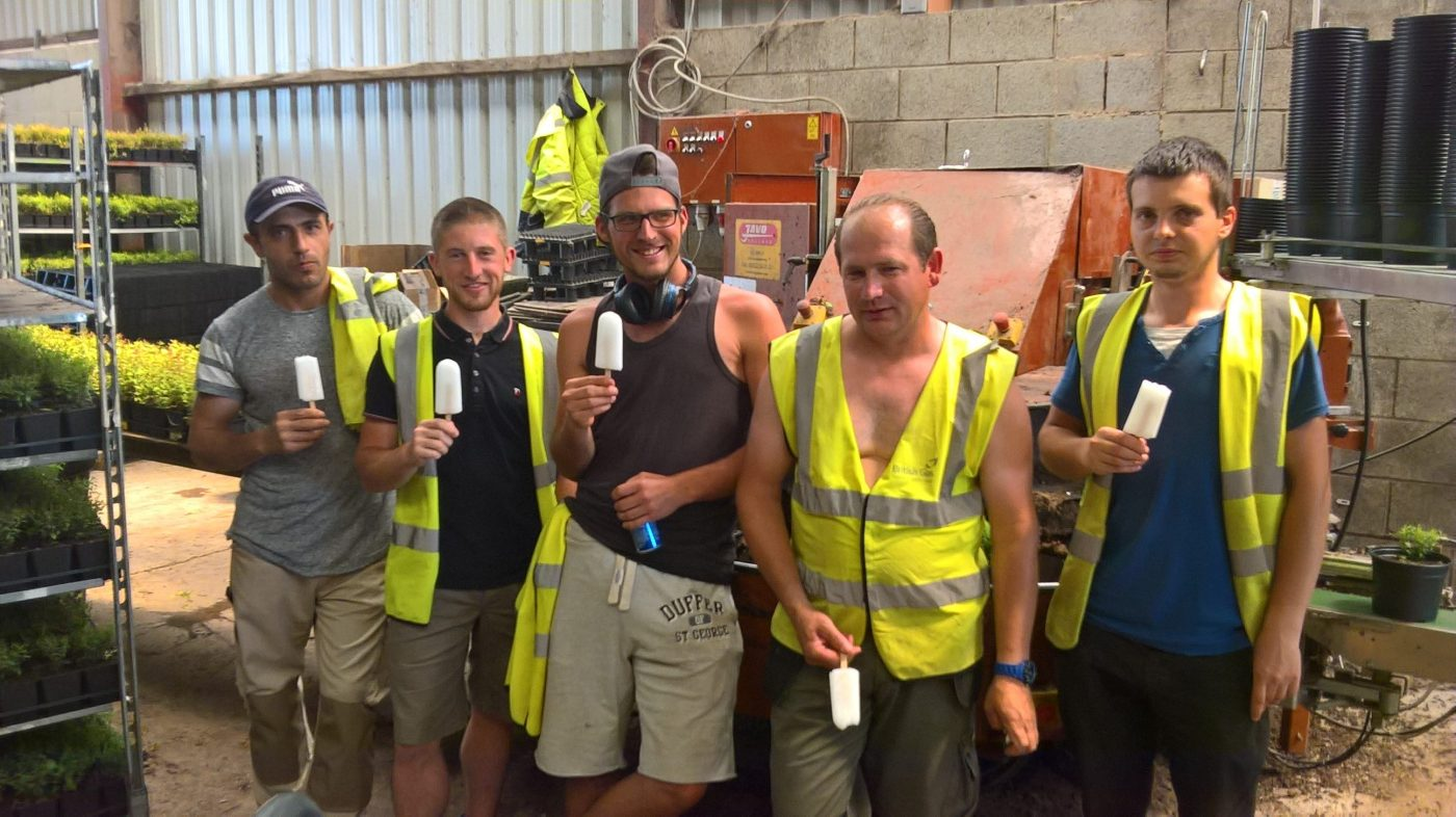 Johnsons of Whixley help staff beat the heat with ice lollies