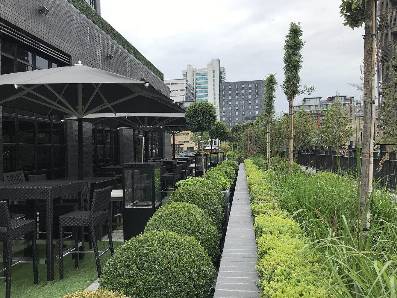 Johnsons of Whixley help enhance the grounds of a new luxury hotel in the centre of Manchester