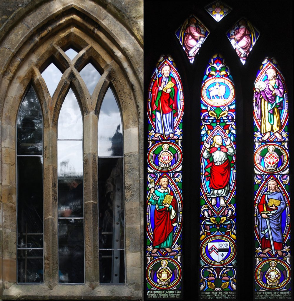 Recent donation helps restore Whixley Church windows to former glory